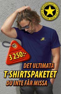 50-pack T-shirt med tryck